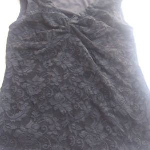 Rampage Sleeveless Black Blouse Lace Size S